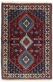 Yalameh Matta 102X153 Äkta Orientalisk Handknuten Mörkblå/Mörkröd (Ull, Persien/Iran)