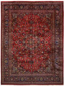 Mashad Matta 296X393 Äkta Orientalisk Handknuten Mörkröd/Mörkgrå Stor (Ull, Persien/Iran)