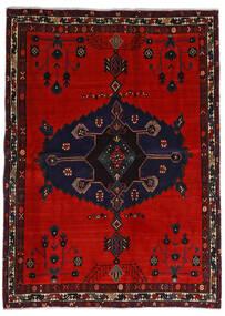 Afshar Matta 164X225 Äkta Orientalisk Handknuten Svart/Roströd/Mörkröd (Ull, Persien/Iran)
