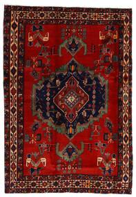 Afshar Matta 169X243 Äkta Orientalisk Handknuten Mörkröd/Roströd (Ull, Persien/Iran)