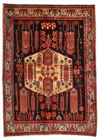 Afshar Matta 171X234 Äkta Orientalisk Handknuten Mörkröd/Mörkbrun (Ull, Persien/Iran)