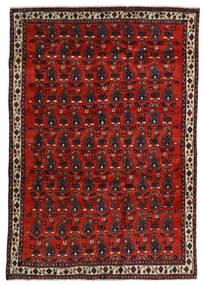 Afshar Matta 172X250 Äkta Orientalisk Handknuten Mörkröd/Roströd (Ull, Persien/Iran)