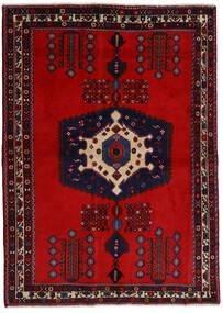 Afshar Matta 171X237 Äkta Orientalisk Handknuten Mörkröd/Roströd (Ull, Persien/Iran)