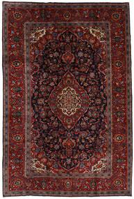 Keshan Matta 204X303 Äkta Orientalisk Handknuten Mörkröd/Mörkbrun (Ull, Persien/Iran)
