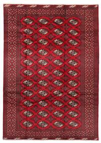 Turkaman Matta 199X282 Äkta Orientalisk Handknuten Mörkröd/Röd (Ull, Persien/Iran)
