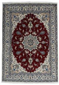 Nain Matta 166X238 Äkta Orientalisk Handknuten Mörkgrå/Mörkröd/Ljusgrå (Ull, Persien/Iran)