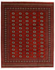 Pakistan Bokhara 2Ply Matta 247X308 Äkta Orientalisk Handknuten Mörkröd/Röd (Ull, Pakistan)