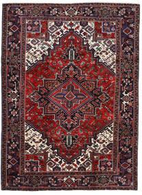 Heriz Matta 202X276 Äkta Orientalisk Handknuten Mörkröd/Mörkbrun (Ull, Persien/Iran)