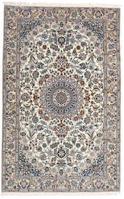 Nain 9La Matta 160X251 Äkta Orientalisk Handknuten Ljusgrå/Vit/Cremefärgad (Ull/Silke, Persien/Iran)