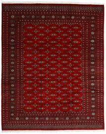 Pakistan Bokhara 2Ply Matta 242X299 Äkta Orientalisk Handknuten Mörkröd/Mörkbrun/Röd (Ull, Pakistan)