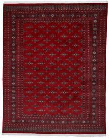 Pakistan Bokhara 2Ply Matta 241X303 Äkta Orientalisk Handknuten Mörkröd/Mörkbrun (Ull, Pakistan)