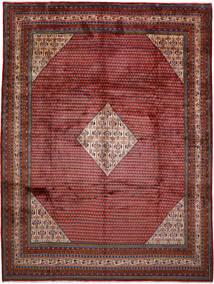Sarough Mir Matta 305X404 Äkta Orientalisk Handknuten Mörkröd Stor (Ull, Persien/Iran)