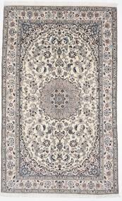 Nain 9La Matta 156X254 Äkta Orientalisk Handknuten Ljusgrå/Vit/Cremefärgad (Ull/Silke, Persien/Iran)