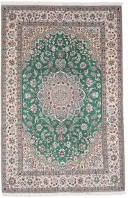 Nain 9La Matta 198X304 Äkta Orientalisk Handknuten Ljusgrå/Mörkgrå (Ull/Silke, Persien/Iran)