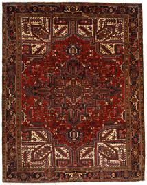 Heriz Matta 257X322 Äkta Orientalisk Handknuten Mörkröd/Mörkbrun Stor (Ull, Persien/Iran)