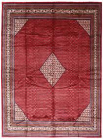 Sarough Mir Matta 294X394 Äkta Orientalisk Handknuten Röd/Mörkröd Stor (Ull, Persien/Iran)