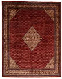Sarough Mir Matta 302X387 Äkta Orientalisk Handknuten Mörkröd/Mörkbrun Stor (Ull, Persien/Iran)
