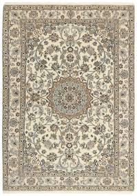 Nain 9La Matta 145X208 Äkta Orientalisk Handknuten Ljusgrå/Beige (Ull/Silke, Persien/Iran)