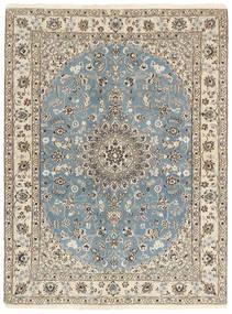 Nain 9La Matta 148X199 Äkta Orientalisk Handknuten Ljusgrå/Beige (Ull/Silke, Persien/Iran)