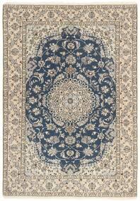 Nain 9La Matta 145X209 Äkta Orientalisk Handknuten Ljusgrå/Mörkgrå/Beige (Ull/Silke, Persien/Iran)