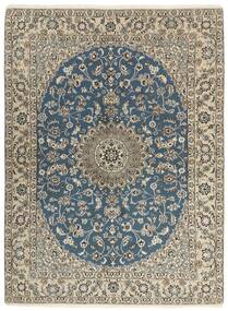 Nain 9La Matta 149X205 Äkta Orientalisk Handknuten Ljusgrå/Mörkgrå (Ull/Silke, Persien/Iran)