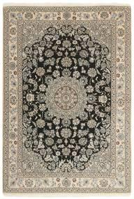 Nain 9La Matta 147X210 Äkta Orientalisk Handknuten Ljusgrå/Beige (Ull/Silke, Persien/Iran)