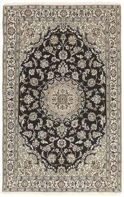 Nain 9La Matta 116X184 Äkta Orientalisk Handknuten Ljusgrå/Mörkgrå (Ull/Silke, Persien/Iran)