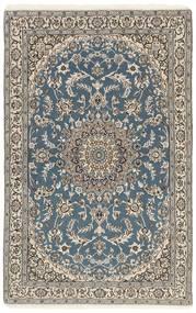 Nain 9La Matta 116X180 Äkta Orientalisk Handknuten Ljusgrå/Mörkgrå (Ull/Silke, Persien/Iran)