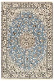 Nain 9La Matta 118X177 Äkta Orientalisk Handknuten Ljusgrå/Beige (Ull/Silke, Persien/Iran)