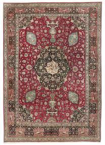 Tabriz 50 Raj Matta 242X325 Äkta Orientalisk Handknuten Ljusgrå/Mörkröd (Ull, Persien/Iran)