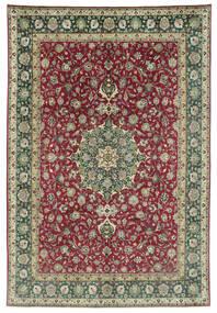 Tabriz 50 Raj Matta 245X362 Äkta Orientalisk Handknuten Mörkgrå/Mörkröd (Ull, Persien/Iran)