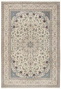Nain 6La Matta 260X380 Äkta Orientalisk Handknuten Ljusgrå/Beige Stor (Ull/Silke, Persien/Iran)
