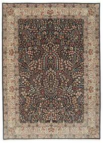 Kerman Lavar Matta 250X348 Äkta Orientalisk Handknuten Ljusgrå/Svart Stor (Ull/Silke, Persien/Iran)