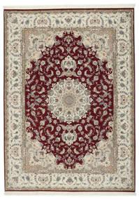 Tabriz 50 Raj Med Silke Matta 248X347 Äkta Orientalisk Handknuten Ljusgrå/Mörkröd (Ull/Silke, Persien/Iran)