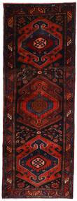Hamadan Matta 106X305 Äkta Orientalisk Handknuten Hallmatta Mörkröd/Roströd (Ull, Persien/Iran)