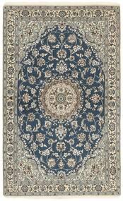 Nain 9La Matta 115X188 Äkta Orientalisk Handknuten Mörkgrå/Ljusgrå (Ull/Silke, Persien/Iran)