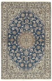 Nain 9La Matta 118X184 Äkta Orientalisk Handknuten Mörkgrå/Ljusgrå (Ull/Silke, Persien/Iran)