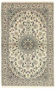 Nain 9La Matta 117X186 Äkta Orientalisk Handknuten Beige/Ljusgrå (Ull/Silke, Persien/Iran)