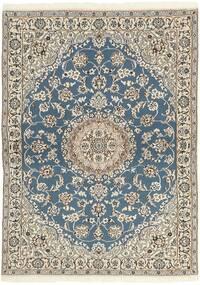 Nain 9La Matta 118X171 Äkta Orientalisk Handknuten Ljusgrå/Beige (Ull/Silke, Persien/Iran)