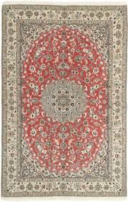 Nain 9La Matta 156X242 Äkta Orientalisk Handknuten Ljusgrå/Roströd (Ull/Silke, Persien/Iran)