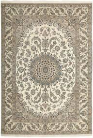 Nain 9La Matta 204X304 Äkta Orientalisk Handknuten Ljusgrå/Beige (Ull/Silke, Persien/Iran)