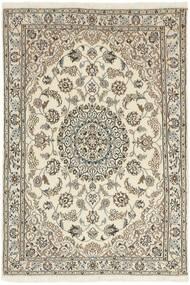 Nain 9La Matta 100X148 Äkta Orientalisk Handknuten Ljusgrå/Beige (Ull/Silke, Persien/Iran)