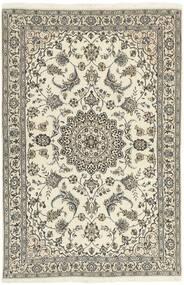 Nain 9La Matta 118X182 Äkta Orientalisk Handknuten Ljusgrå/Beige (Ull/Silke, Persien/Iran)