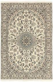 Nain 9La Matta 114X178 Äkta Orientalisk Handknuten Ljusgrå/Beige (Ull/Silke, Persien/Iran)