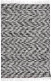 Chinara - Svart/Vit Matta 140X200 Äkta Modern Handvävd Ljusgrå/Mörkgrå/Mörkbrun (Ull, Indien)