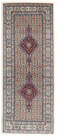 Moud Matta 77X192 Äkta Orientalisk Handknuten Hallmatta Mörkgrå/Beige/Ljusgrå (Ull/Silke, Persien/Iran)