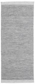 Serafina - Mörkgrå Melerad Matta 100X450 Äkta Modern Handvävd Hallmatta Ljusgrå (Ull, Indien)