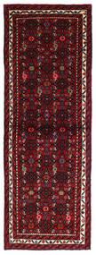 Hosseinabad Matta 69X193 Äkta Orientalisk Handknuten Hallmatta Mörkröd (Ull, Persien/Iran)