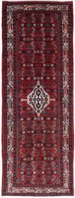 Hamadan Matta 76X205 Äkta Orientalisk Handknuten Hallmatta Mörkröd/Röd (Ull, Persien/Iran)