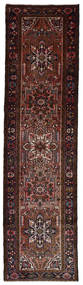 Hamadan Matta 76X290 Äkta Orientalisk Handknuten Hallmatta Mörkröd/Mörkbrun (Ull, Persien/Iran)